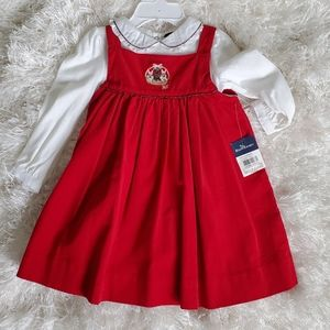 Ralph Lauren Velvet Dress & Onesie set
